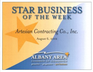 Star Business of the Week Certificate